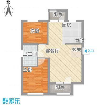 「大连天地」悦翠台Style80.00㎡「大连天地」悦翠台Style户型图T5、T6号楼A户型2室2厅1卫1厨户型2室2厅1卫1厨