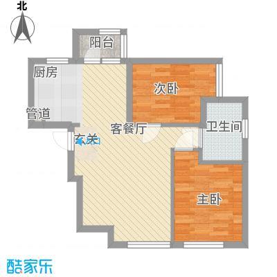 「大连天地」悦翠台Style82.00㎡「大连天地」悦翠台Style户型图T5、T6号楼D户型2室2厅1卫1厨户型2室2厅1卫1厨