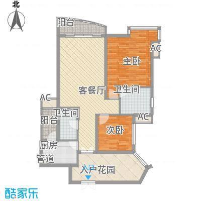 盛世华南盛世华南户型图101两房户型图(A2室2厅2卫1厨户型2室2厅2卫1厨