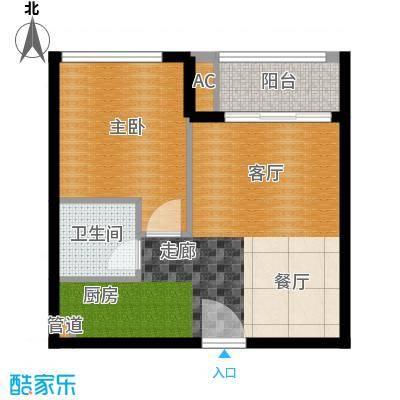 华毅花园80.00㎡华毅花园1室户型1室
