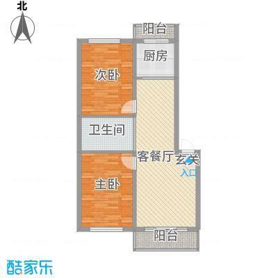 丰田新村65.00㎡丰田新村2室户型2室