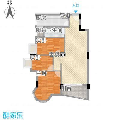 中南海晖园103.00㎡中南海晖园户型图13座02室3室2厅2卫户型3室2厅2卫