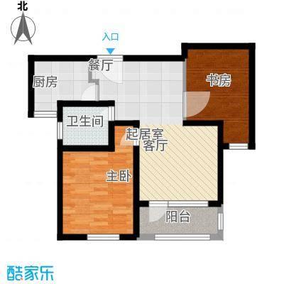 金域蓝湾80.80㎡金域蓝湾户型图GD2户型2室2厅1卫1厨户型2室2厅1卫1厨