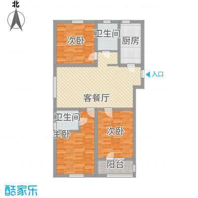 金域蓝湾121.70㎡金域蓝湾户型图GD1户型3室2厅2卫1厨户型3室2厅2卫1厨