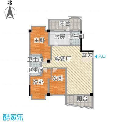 世纪嘉园195.00㎡世纪嘉园户型图汇豪轩01\043室2厅3卫户型3室2厅3卫