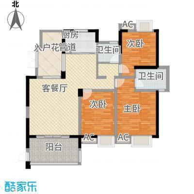 世纪城龙禧苑132.00㎡世纪城龙禧苑3室户型3室