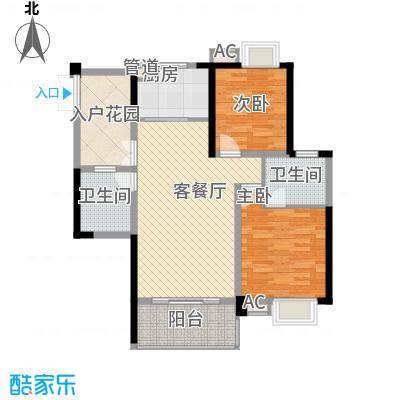 世纪城龙禧苑105.00㎡世纪城龙禧苑2室户型2室
