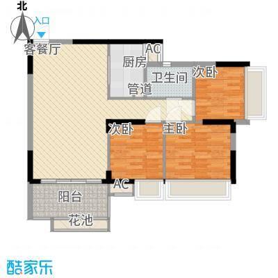 理想0769沁园93.00㎡理想0769沁园3室户型3室