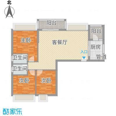 健逸天地二期115.00㎡健逸天地二期3室户型3室