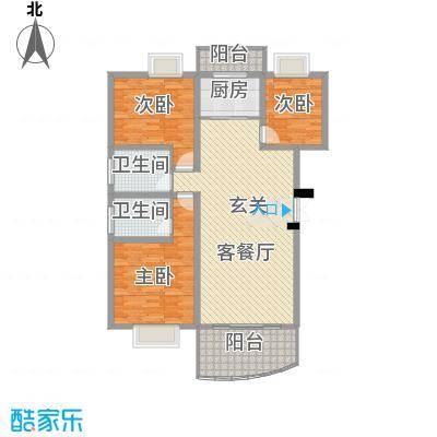 十里江南124.00㎡十里江南户型图B7B8平层3室2厅2卫1厨户型3室2厅2卫1厨
