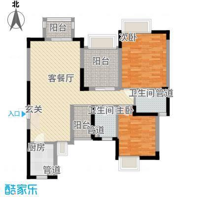 丰泰东海城堡90.00㎡丰泰东海城堡3室户型3室