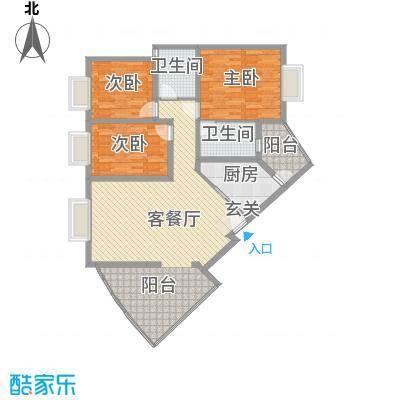 十里江南122.00㎡十里江南户型图B2平层-13室2厅2卫1厨户型3室2厅2卫1厨