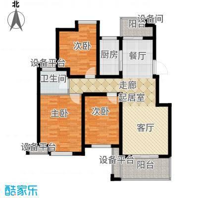 骏和・玲珑湾105.00㎡骏和・玲珑湾户型图E2户型3室2厅1卫1厨户型3室2厅1卫1厨