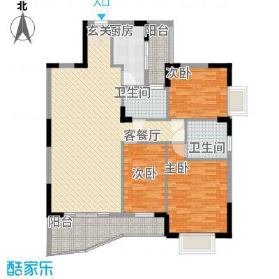 芳菲苑131.71㎡芳菲苑户型图米兰阁02单位3室2厅2卫1厨户型3室2厅2卫1厨