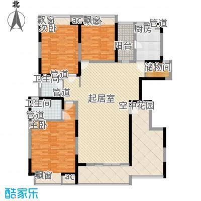 富康豪庭130.00㎡富康豪庭一期3室户型3室