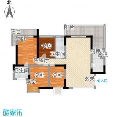 大朗中心花园二期136.00㎡大朗中心花园二期4室户型4室