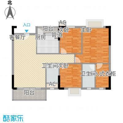 石竹山水园四期120.00㎡石竹山水园四期户型图1、2、3、4栋标准层03户型3室2厅2卫1厨户型3室2厅2卫1厨