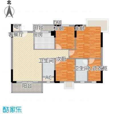 石竹山水园四期119.00㎡石竹山水园四期户型图1、3、4栋标准层04户型3室2厅2卫1厨户型3室2厅2卫1厨