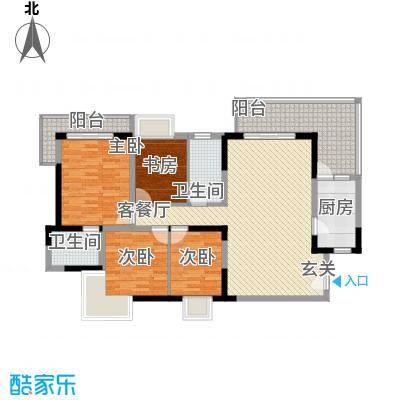 金海广场140.00㎡金海广场4室户型4室
