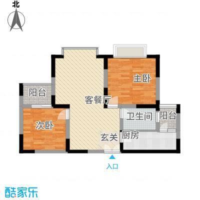 金海广场96.00㎡金海广场2室户型2室