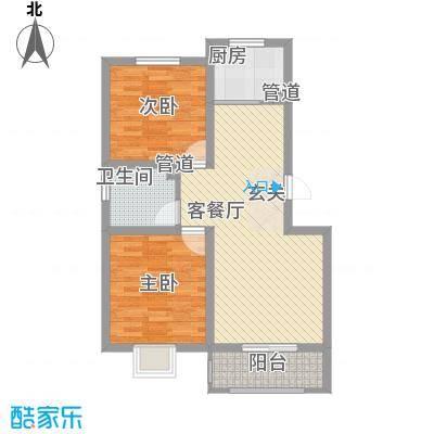 花漾山83.22㎡花漾山户型图户型单页A-D首层-012室2厅1卫户型2室2厅1卫