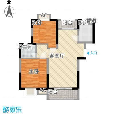 新天地华庭91.00㎡新天地华庭2室户型2室