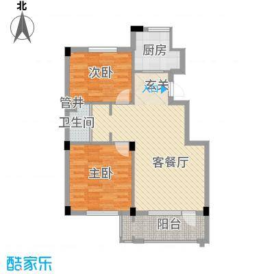 丹田85.00㎡3#、4#楼J户型2室2厅1卫1厨