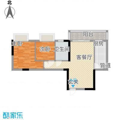 江南第一城70.00㎡江南第一城户型图90、91栋标准层04户型2室2厅1卫1厨户型2室2厅1卫1厨