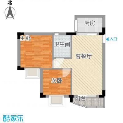 新天地华庭65.00㎡新天地华庭2室户型2室