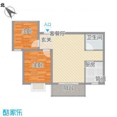 后卫金都76.00㎡后卫金都户型图76平米户型2室2厅1卫1厨户型2室2厅1卫1厨