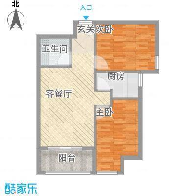 罗马花园81.76㎡罗马花园户型图两室两厅一卫81.762室2厅1卫1厨户型2室2厅1卫1厨