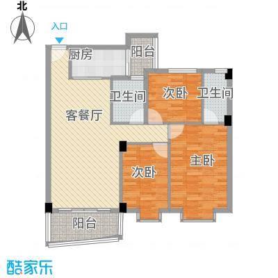 锦绣华庭110.24㎡锦绣华庭户型图23栋楼2043室2厅2卫1厨户型3室2厅2卫1厨