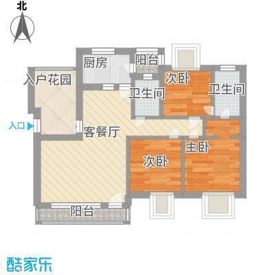 新天地华庭60.00㎡新天地华庭3室户型3室