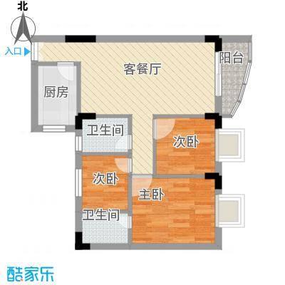 新天地华庭65.00㎡新天地华庭3室户型3室