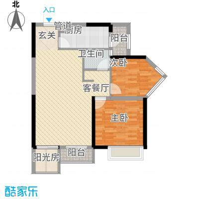 香缤城市花园88.00㎡香缤城市花园3室户型3室