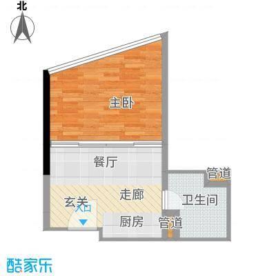 华林星座42.74㎡华林星座户型图1室1厅1卫1厨户型10室