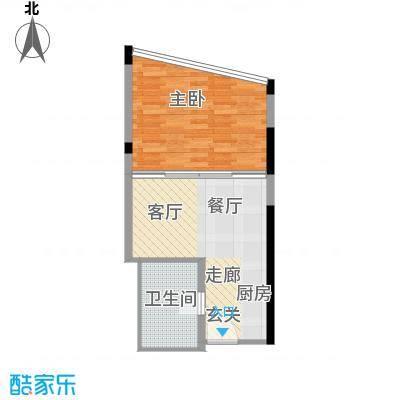 华林星座48.22㎡华林星座户型图1室1厅1卫1厨户型10室