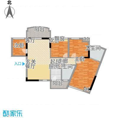 星城国际花园四期97.00㎡星城国际花园四期户型图6栋K1户型4室2厅2卫1厨户型4室2厅2卫1厨