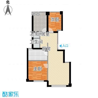 正泰园B区89.66㎡4#、5#楼A3户型2室2厅1卫1厨