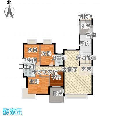 海岸国际190.00㎡海岸国际4室户型4室