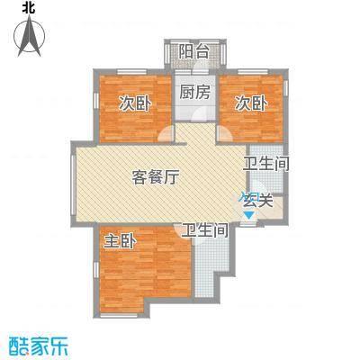 罗马花园122.45㎡罗马花园户型图三室两厅两卫122.453室2厅2卫1厨户型3室2厅2卫1厨