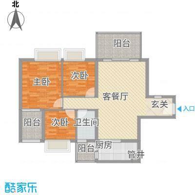 景湖时代城104.00㎡景湖时代城3室户型3室