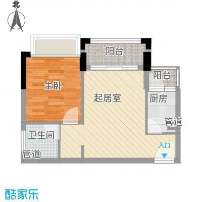 雍景家园49.00㎡雍景家园户型图标准层B1户型1室2厅1卫1厨户型1室2厅1卫1厨
