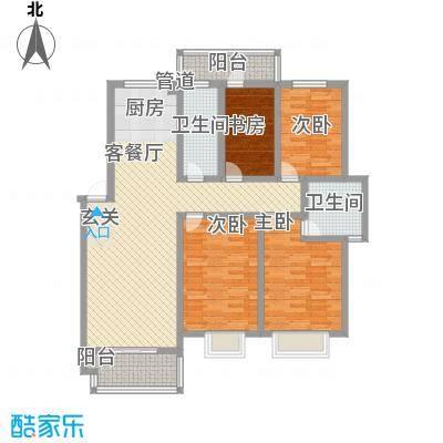 鼓楼开元小区142.44㎡鼓楼开元小区户型图B4室2厅2卫1厨户型4室2厅2卫1厨