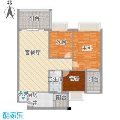 景湖时代城101.08㎡景湖时代城3室户型3室