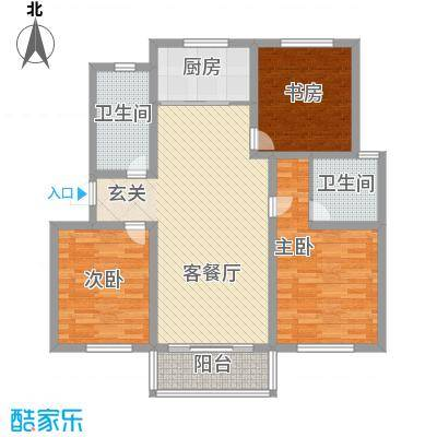 万博宇辉家园124.70㎡万博宇辉家园户型图F3室2厅2卫1厨户型3室2厅2卫1厨