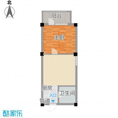 金湾新城二期1室户型1室1厅1卫1厨