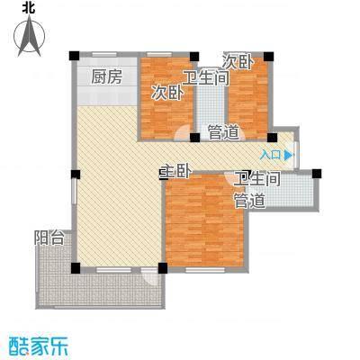 金湾新城二期3室户型3室2厅1卫1厨
