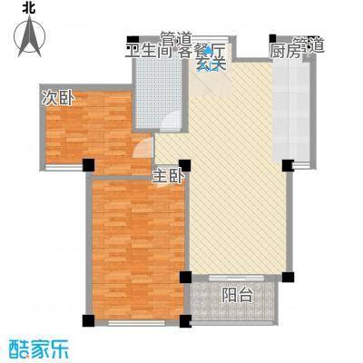 金湾新城二期2室户型2室2厅1卫1厨