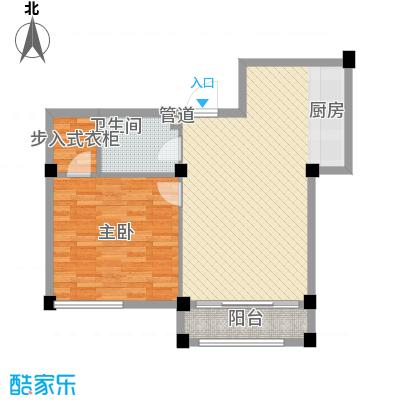 金湾新城二期1室户型1室2厅1卫1厨